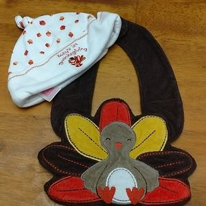 My first Thanksgiving hat and bib.